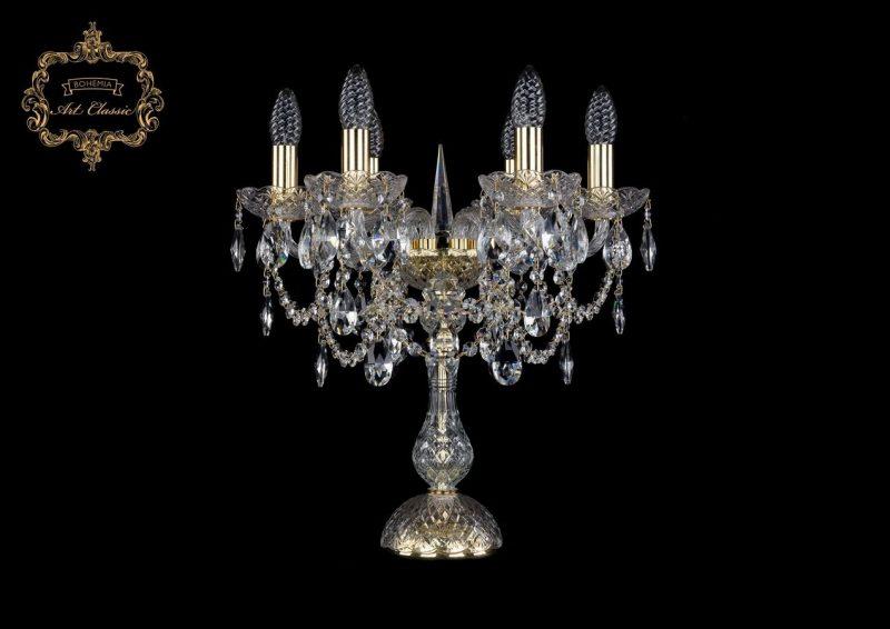 Настольная лампа бесцветный хрусталь 12.25.6.141-45.Gd.Sp