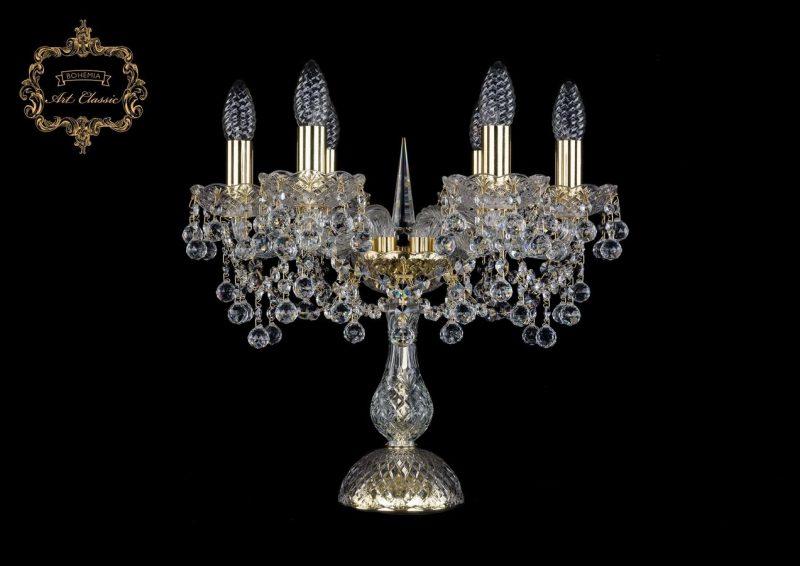 Настольная лампа бесцветный хрусталь 12.26.6.141-37.Gd.B