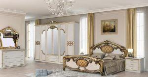 Итальянская спальня «ОЛЬГА»  Золото Орех Могано