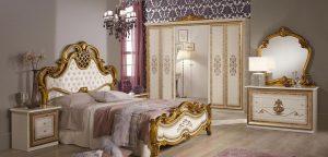 Итальянская спальня «АНИТА» Беж, Могано