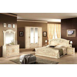 Итальянская спальня «РОМА»  Орех, Беж