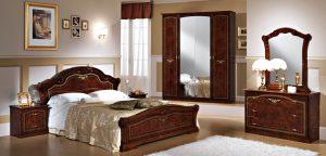 Итальянская спальня  «ИРИНА»  Орех, Беж