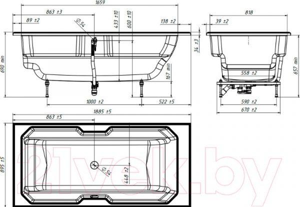Подставка для ванны Кастилия ПВ-5