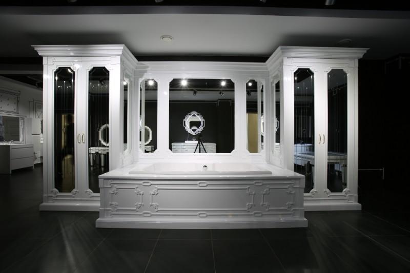 Зеркало Кастилия К 250-02 Белый глянец