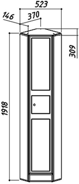 Шкаф угловой Адажио ПУ 38