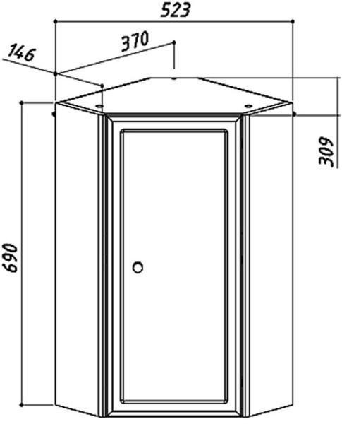 Шкаф навесной угловой Адажио ШУ 38
