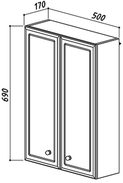 Шкаф навесной Адажио Ш 50