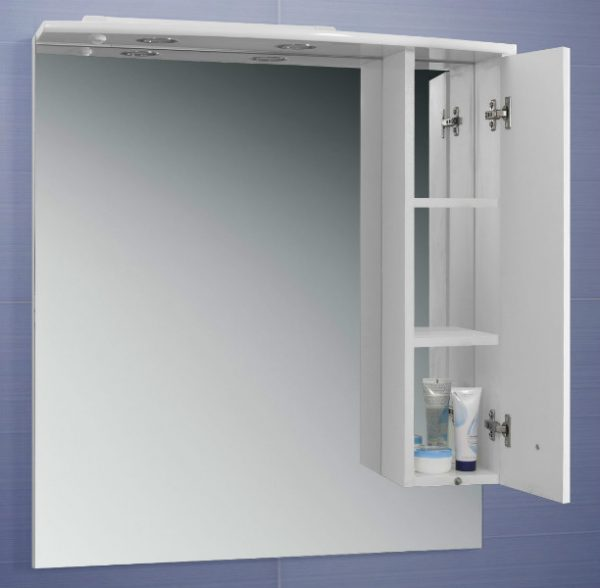 Зеркало со шкафом Адажио В 80 Ш