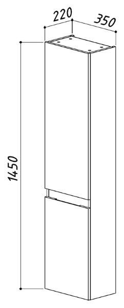 Навесной шкаф Сидней ПН35