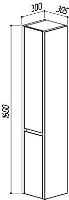 Шкаф-Пенал подвесной Мадрид ПН30
