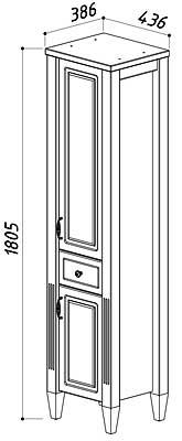 Шкаф Империя П 30-01