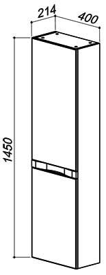 Терра-Бергамо ПН40 навесной шкаф