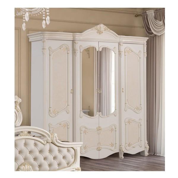 Шкаф 4-х дверный с зеркалами РАФАЭЛЛА