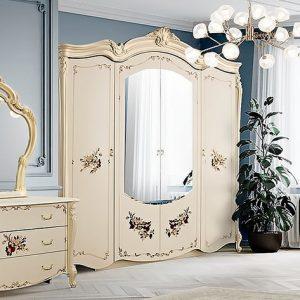 Шкаф 4-х дверный с зеркалами Альба