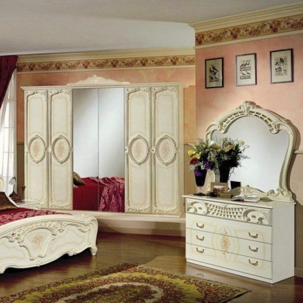 Шкаф 6-и дверный с зеркалами Роза
