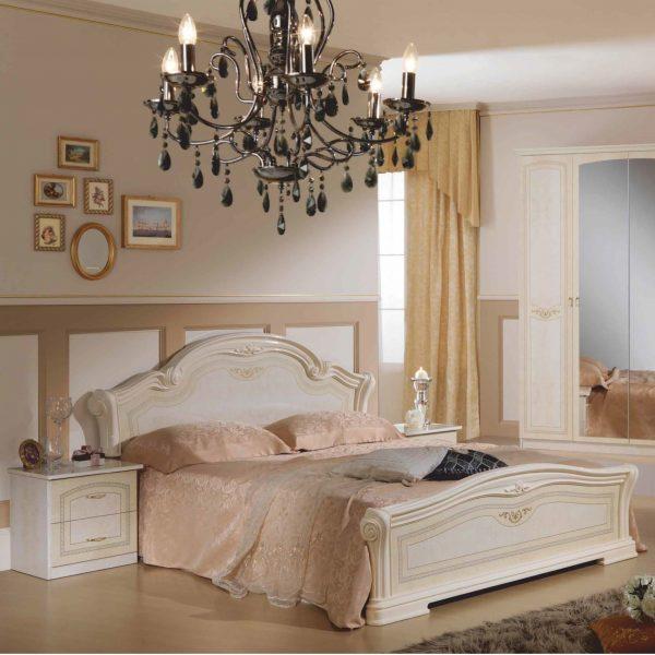Кровать* 2-х спальная 1800*2000 (кожа) Ирина