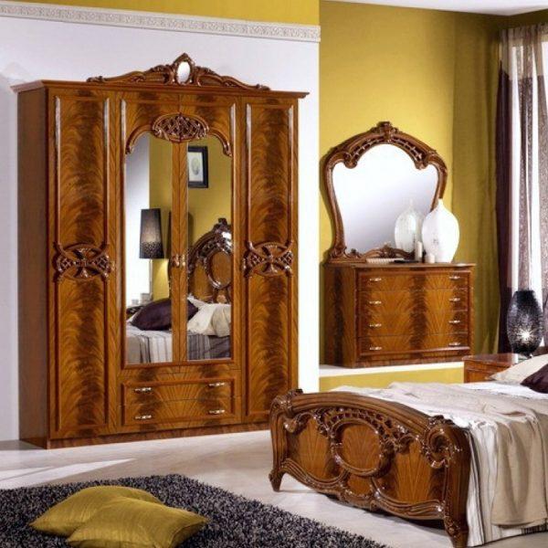Шкаф 4-х дверный с зеркалами Ольга