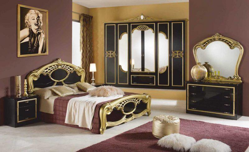 Шкаф 6-и дверный с зеркалами Ольга