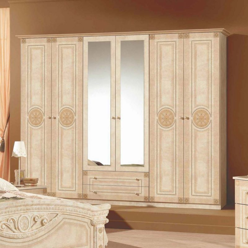 Шкаф 6-и дверный с зеркалами Рома