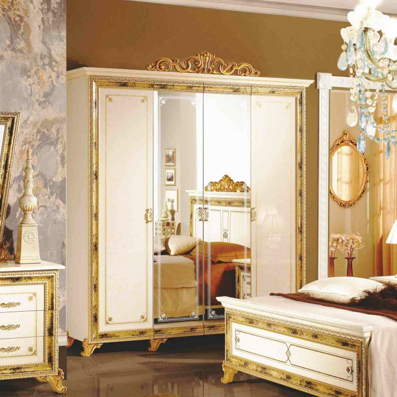 Шкаф 4-х дверный с зеркалами Катя